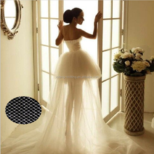 Fashion White Good Quality 100% Polyester or Nylon Mesh fabric America Net for Beautiful and Noble Dress