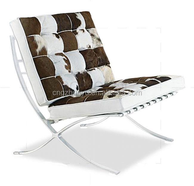barcelona silla de cuero de piel de potro-sillas para la sala de ... - Chaise Barcelona Pas Cher