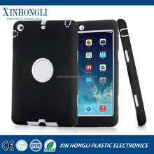 2015 Hot Fashion Dual Color 3 in 1 Hard Shield Silicone & Plastic Case For iPad Mini 1/2/3 Retina Hybrid Robot Armor Cover