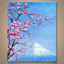 de alta calidad de ciruela abstracto pintura de árboles