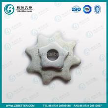 Tungsten carbide cutter Material in zinc coating