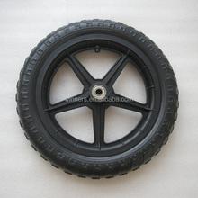12 pollici ruota di bicicletta di plastica/passeggino ruota/ruota di plastica eva
