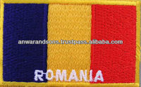 Romania Flag Machine Embroidery Patch Banner