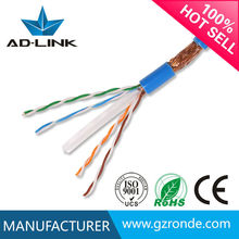 Indoor double shielded sftp cat 5e 24 awg network cable