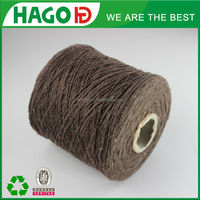 dyed OE polyester cotton blended dust mop yarn hand knitting sheep wool yarn