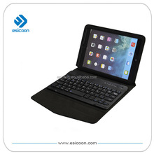 Wireless bluetooth keyboard portfolio with case for iPad mini/for iPad Air