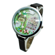 Watches Hand Crafted Unique Ladybug and House Watch Small Dial Silver Style watch