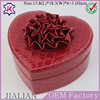 High quality lovely flip red leatherette heart shaped jewelry box with mirror