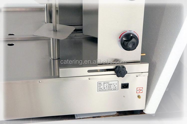 en acier inoxydable gaz shawarma machines pour la restauration rapide produit base de viande. Black Bedroom Furniture Sets. Home Design Ideas