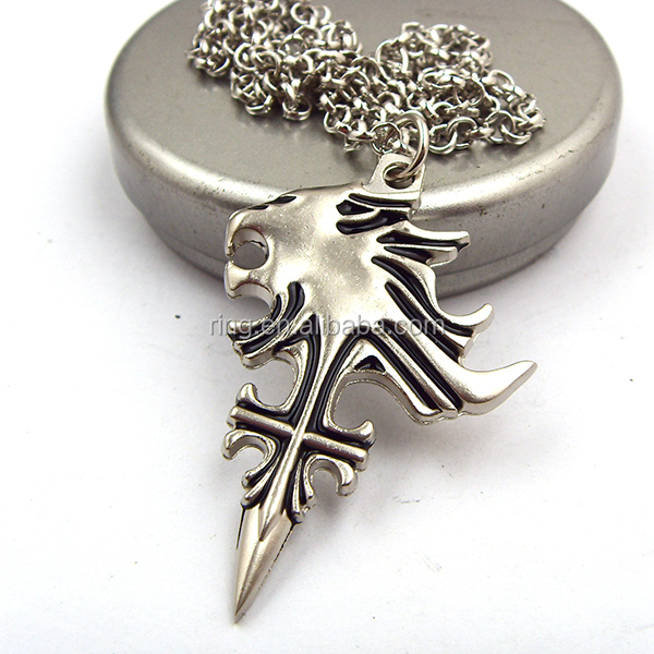 Final fantasy sleeping lion heart necklace squall leonhart fashion jpg sdc10738g mozeypictures Image collections