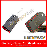 2014 factory promotion for leather car key cover for mazda serise
