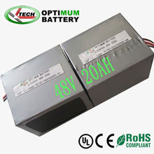 Long cycle life 48v 20ah lifepo4 battery pack for electric car /ATV/wagon/truck