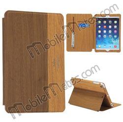 Kajsa Wood Pattern Stand Flip Leather Case for iPad Mini 2 Retina iPad Mini