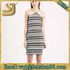 High quality bodycon dresses knee length,stripes woman 2015 summer stripe dress