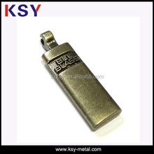 Anti-brass small alloy luggage tag