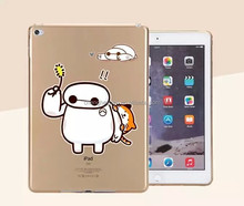 Fashion Cute Cartoon big white TPU silicone Phone Case for ipad mini