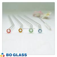 Customized borosilicate glass drinking straw in high quality