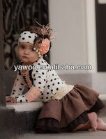 New Arrival! Wholesale cheap newborn baby girl boutique clothing sets designer kids outfit with lovely tutu skirt