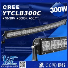 Factory Arced Led Light Bar Curved Led Light Bar 100pcs*3W 300W 52inch arc-shaped arced camber Offroad led light bar