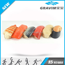 Differet kind of Sushi shape dog chew toy,lively sushi toys for dogs,bluk sushi toys for pet