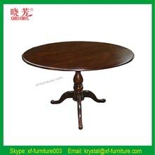 Square italian style oak wood table