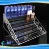5-tier Knock Down Plastic 30ml E liquid E juice Display Stand Showcase Liquor Bottles Stand Acrylic Glass Bottles Display Case