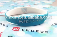 rubber wristband pure strength silicone bio magnetic bracelet