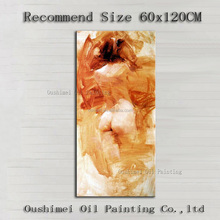 Artist Handmade High Quality Impression Nude Lady Oil Painting For Wall Decoration Hand-painted Sexy Naked Girl Body Paintings