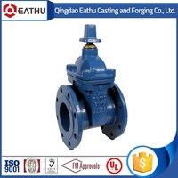 DIN3352 F4 RESILIENT SEAT GATE VALVE dn100 pn16