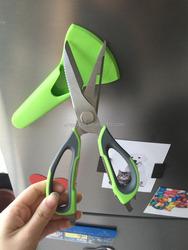 Multi-function kitchen scissor fridge magnet/Kitchen scissor with magnetic cover/Separable kitchen scissors