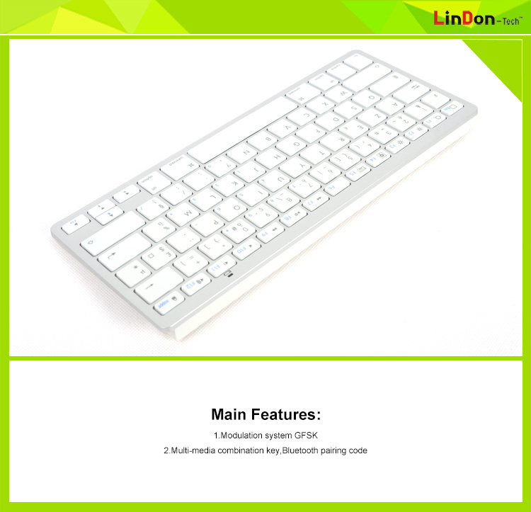Factory Price Universal Bluetooth Wireless Keyboard For iPad 2,3,4 Mini iPhone/Mac/iMac