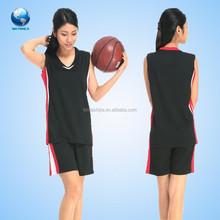 Made in China basketball jersey put logo design,custom basketball uniform design for women