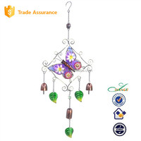 Metal floral butterfly dangler wind chime