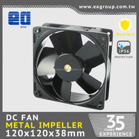 120x120x38mm 5v/12v/24v/48v brushless METAL dc cooling axial fan