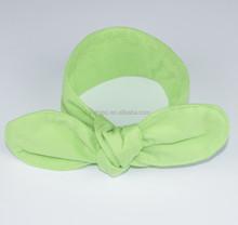 Fancy plain color jersey knit headband cotton elastic fabric baby headbands