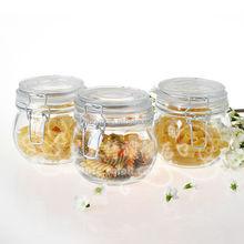 600ml round air tight storage jar for tea,jam,cookie