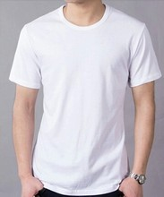 100% cotton custom plain white t shirt