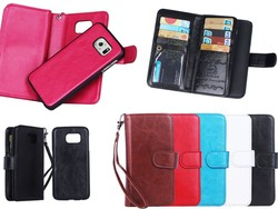 large wallet case with 9 card slots for samsung galaxy s6