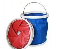 Camping Fishing Portable 9L Oxford Folding Foldable Water Pail