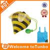 Cute animal shape wholesale shopper, bee foldable shopping bag, novelty reusable shopping bag