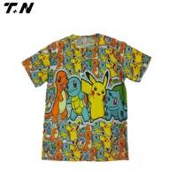 70% polyester 30% cotton t-shirt,very nice printing t-shirt,cartoon t-shirt