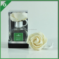 2015 new product/100ml fragrance diffuser in glass bottle / 1pc sola flower/ PVC box with PVC holder