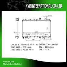 aluminum car radiator for 1.5 LANCER OE No.: MB538548