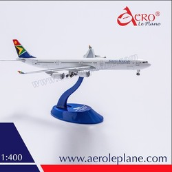 A340 Aircraft Model 1:400 Airbus 340-600 South African Airways Diecast For sale Metal One-Piece Landing Gears Passenger Products