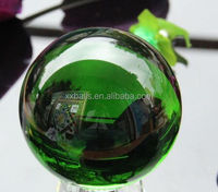 Retail mirror high grade precision Glass balls 50mm dark green glass balls for decoration