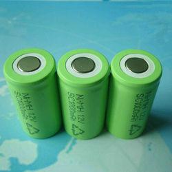 Rechargeble battery nimh 1.2v sc 1300 mah