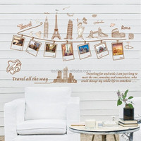 Removable stickers wall stickers manufacturers wholesale generation fashion photo wall of Europe and building AY9011
