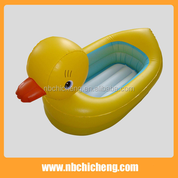 inflatable baby safety duck tub yellow duck bath tub buy. Black Bedroom Furniture Sets. Home Design Ideas
