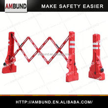 Expandable u channel fence posts for safety