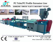 Wholesale price PC PMMA PS led lamp shade profile extrusion line / lamp-chimney profile making machine